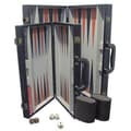 CHH Backgammon Game Set with Black Leatherette Case; 15''