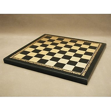 Ital Fama 10'' Pressed Leather Chess Board