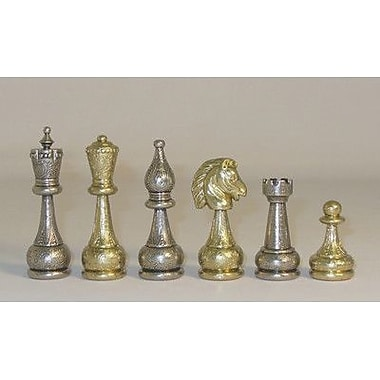 Ital Fama Large Staunton Metal Men Chessmen