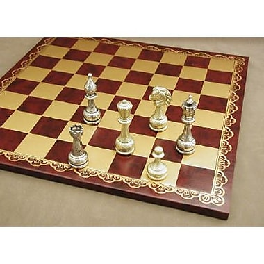 Ital Fama Large Metal Staunton on Leather Chess Board