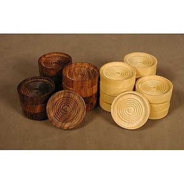 Chopra 1.5'' Wood Stacking Checkers