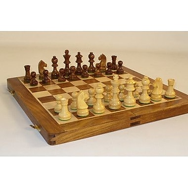 Chopra 14'' Folding Wood Chess Set