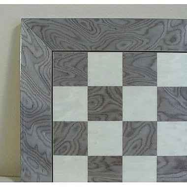 Ferrer 17'' Briar Wide Frame Chess Board in Grey / Ivory Glossy