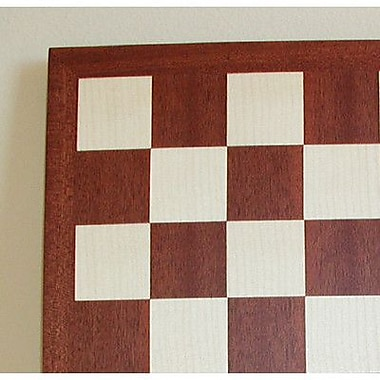 Ferrer 17'' Veneer Chess Board in Mahogany / Maple