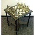Ital Fama Renaissance Men on Grey Table Chess Set