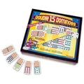 Puremco Dominoes Professional Colored Dots Double 15 Domino Game