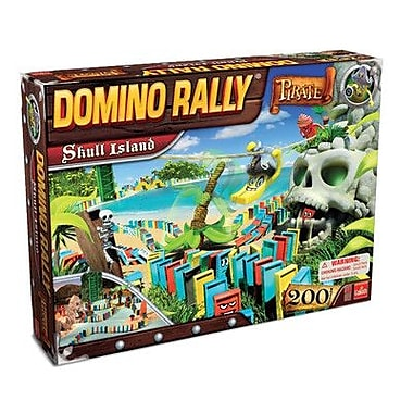 Goliath Games Domino Rally Pirate Skull Island Game