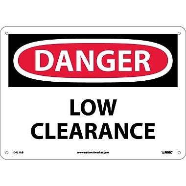 Danger, Low Clearance, 10X14, .040 Aluminum