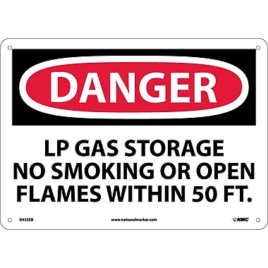 Danger, Lp Gas Storage No Smoking Or Open..., 10
