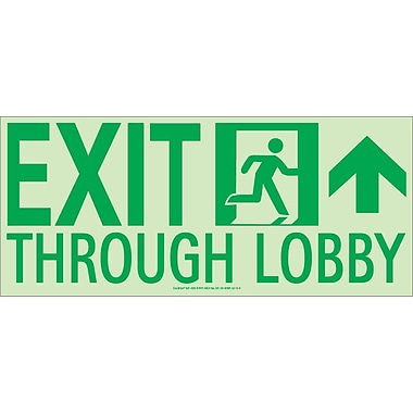 NYC Exit Through Lobby Sign, Forward Right Side, 7