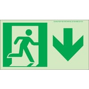 NYC Directional Sign,Down, 4.5X8, Flex, 7550 Glow Brite, MEA Approved