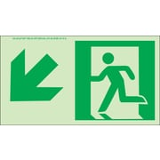 NYC Directional Sign, Down Left, 4.5X8, Flex, 7550 Glow Brite, MEA Approved