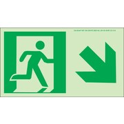 NYC Directional Sign, Down Right, 4.5X8, Flex, 7550 Glow Brite, MEA Approved