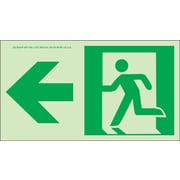 NYC Directional Sign, Left, 4.5X8, Flex, 7550 Glow Brite, MEA Approved