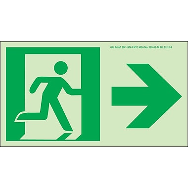 NYC Directional Sign, Right, 4.5X8, Flex, 7550 Glow Brite, MEA Approved
