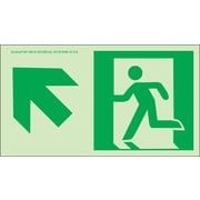 NYC Directional Sign, Up Left, 4.5X8, Flex, 7550 Glow Brite, MEA Approved