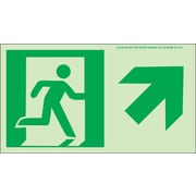 NYC Directional Sign, Up Right, 4.5X8, Flex, 7550 Glow Brite, MEA Approved
