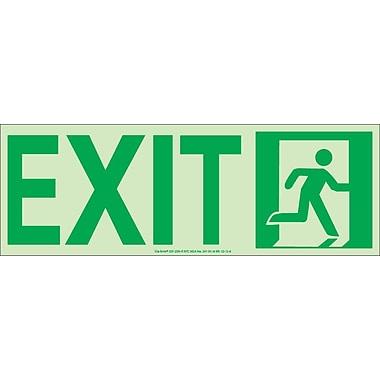 NYC Door Mount Exit Sign, Right, 4.5