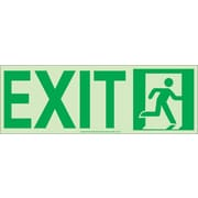 NYC Door Mount Exit Sign, Right, 4.5X13, Flex, 7550 Glow Brite, MEA Approved
