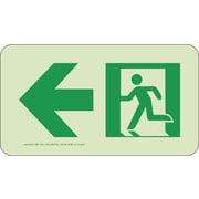 NYC Directional Sign, Left, 4.5X8, Rigid, 7550 Glow Brite, MEA Approved