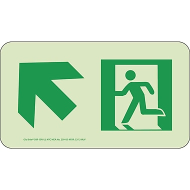 NYC Directional Sign, Up Left, 4.5