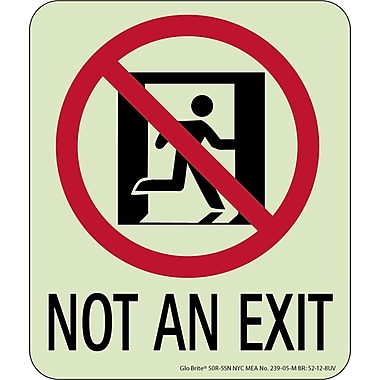 NYC Not An Exit Sign, 6.5