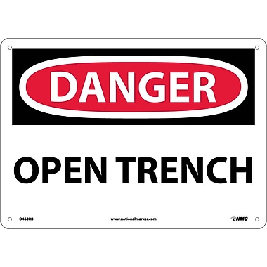 Danger, Open Trench, 10X14, Rigid Plastic