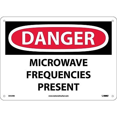 Danger, Microwave Frequencies Present, 10X14, Rigid Plastic