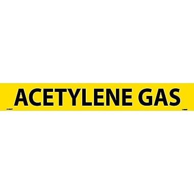 Pipemarker, Adhesive Vinyl, Acetylene Gas, 2X14 1 1/4