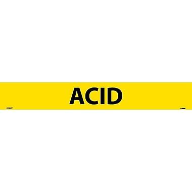 Pipemarker, Adhesive Vinyl, Acid, 2X14 1 1/4