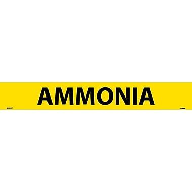 Pipemarker, Adhesive Vinyl, Ammonia, 2X14 1 1/4