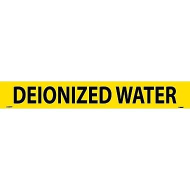 Pipemarker, Adhesive Vinyl, Deionized Water, 2X14 1 1/4