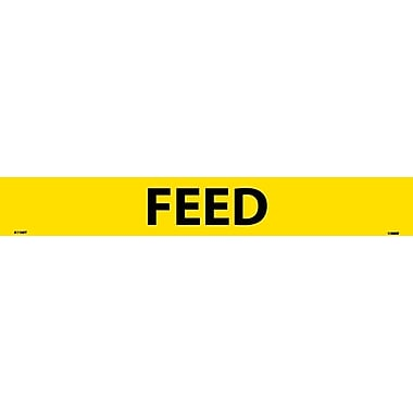 Pipemarker, Feed, 2X14, 1 1/4 Letter, Adhesive Vinyl