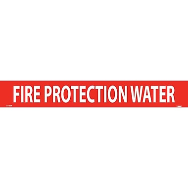 Pipemarker, Adhesive Vinyl, Fire Protection Water, 2X14 1 1/4
