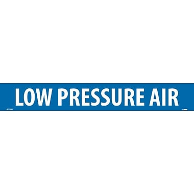 Pipemarker, Adhesive Vinyl, Low Pressure Air, 2X14 1 1/4