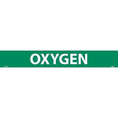 Pipemarker, Adhesive Vinyl, Oxygen, 2X14, 1 1/4