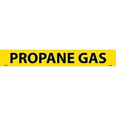 Pipemarker, Adhesive Vinyl, Propane Gas, 2X14 1 1/4
