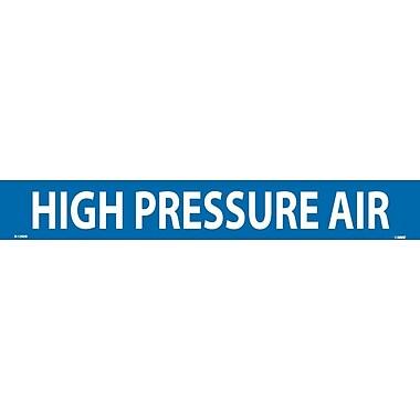 Pipemarker, High Pressure Air, 2X14, 1 1/4 Letter, Adhesive Vinyl