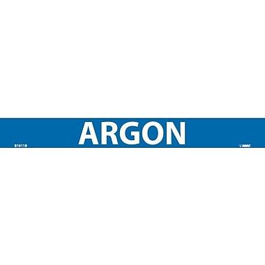 Pipemarker, Adhesive Vinyl, 25/Pack, Argon, 1