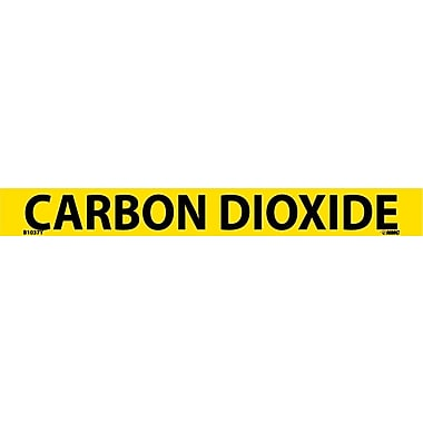 Pipemarker, Adhesive Vinyl, Carbon Dioxide, 1X9 3/4