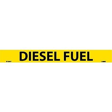 Pipemarker, Adhesive Vinyl, 25/Pack, Diesel Fuel, 1