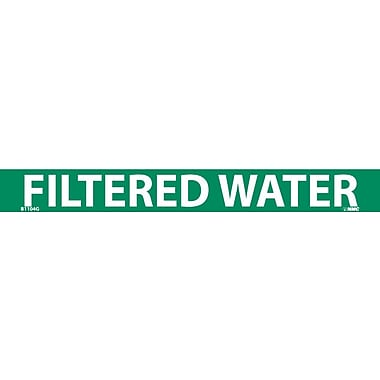 Pipemarker, Adhesive Vinyl, Filtered Water, 1X9 3/4