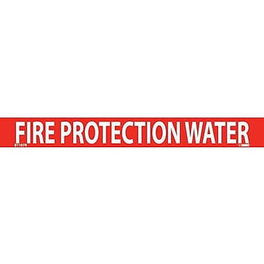 Pipemarker, Adhesive Vinyl, Fire Protection Water, 1X9 3/4