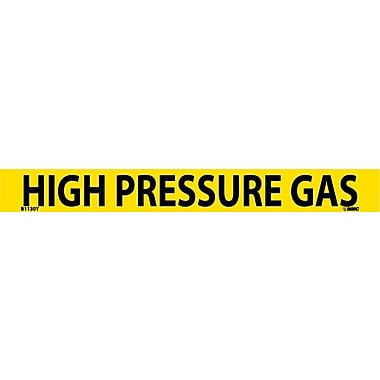Pipemarker, Adhesive Vinyl, High Pressure Gas, 1X9 3/4