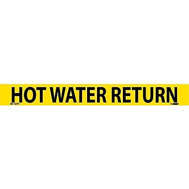 Pipemarker, Adhesive Vinyl, 25/Pack, Hot Water Return, 1