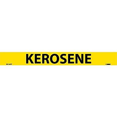 Pipemarker, Adhesive Vinyl, Kerosene, 1X9 3/4