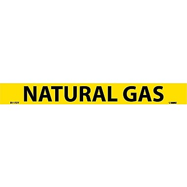 Pipemarker, Adhesive Vinyl, Natural Gas, 1X9 3/4