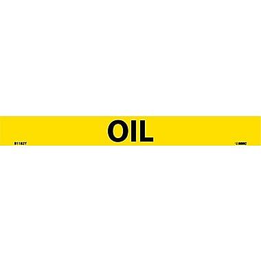 Pipemarker, Adhesive Vinyl, 25/Pack, Oil, 1