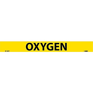 Pipemarker Adhesive Vinyl, 25/Pack Oxygen, 1