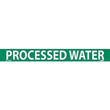 Pipemarker, Adhesive Vinyl, 25/Pack, Processed Water, 1
